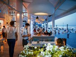 Restaurant «Boulevard» miniature with its geography and history in Odessa.