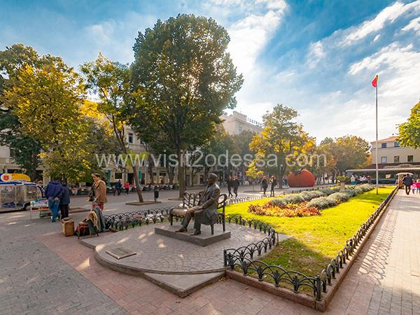 Walking tour on Deribasovskaya street Odessa Ukraine
