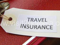 Travel insurance label photo in Odessa, Ukraine