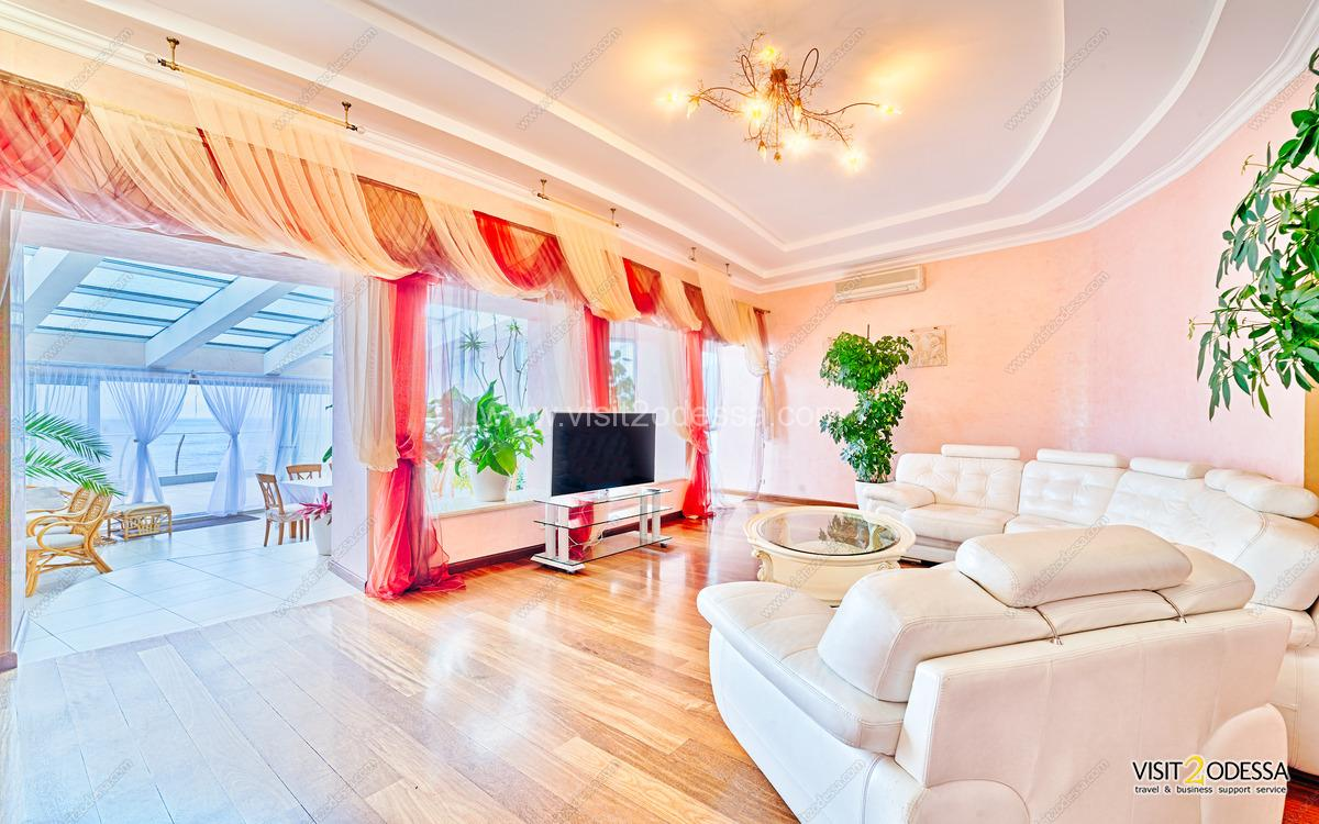 Luxury Odessa Villa house terrace with furniture for rest