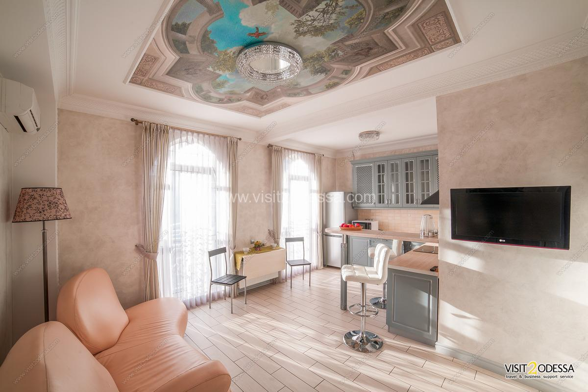 Room for guests in new vip Odessa apartment.