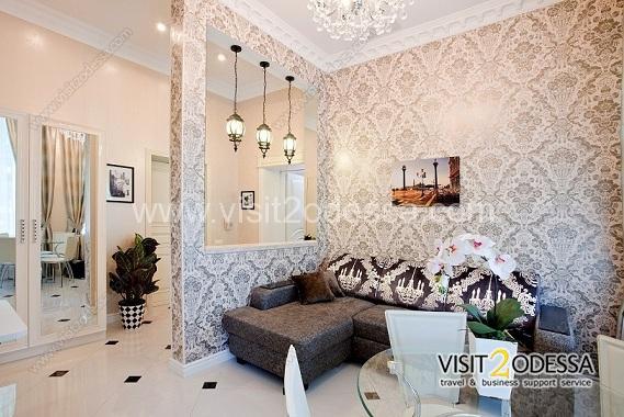 2 room apartment in light, pleasant tones.