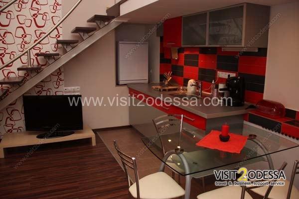 Apartment studio, two level in Odessa.