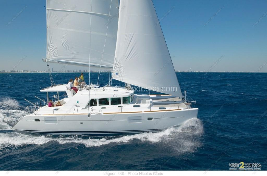 The Lagoon 44 was voted best catamaran, for Odessa boat tour
